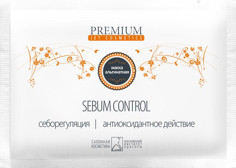 PREMIUM Маска альгинатная Sebum Control / Jet cosmetics 25грМаски<br>Введенный в состав маски порошок герани, содержащий в больших количествах дубильные вещества, позволяет нормализовать процесс выделения кожного сала. Кроме того, герань содержит ценные биологически-активные вещества: каротиноиды, хлорофилл, витамин Е, способствующие оздоровлению кожи, улучшению её внешнего вида. Активные ингредиенты: диатомовые водоросли, герань, маисовый крахмал. Способ применения: содержимое пакетика развести водой до кашеобразного состояния, наложить на лицо плотным слоем с чёткими границами на 15-20 мин. Эластичная резиновая маска легко снимается одним движением после процедуры.<br><br>Объем: 25<br>Вид средства для лица: Альгинатная