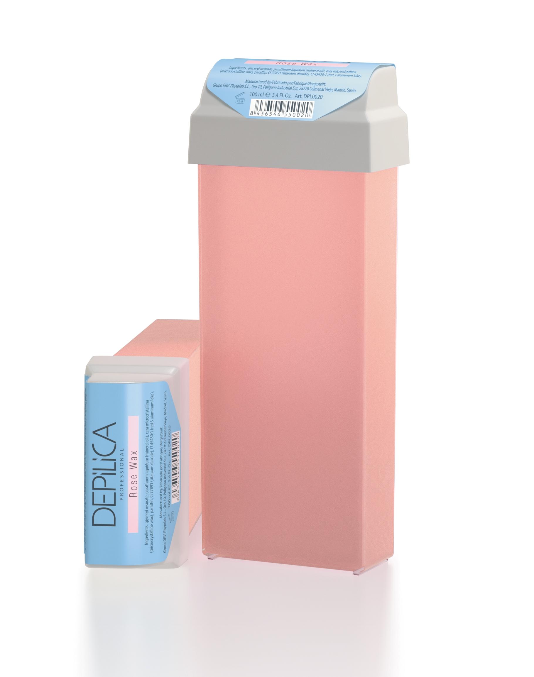 DEPILICA PROFESSIONAL Воск теплый розовый / Rose Warm Wax 100млВоски<br>Содержит комплекс растительных масел и диоксид титана. Способствует уменьшению покраснений и неприятных ощущений во время процедуры, смягчает кожу. Обладает легкой кремовой текстурой и чувственным ароматом розы. Обеспечивает деликатный уход за кожей. Универсальные картриджи воска подходят для всех стандартных нагревателей. Они оснащены роликом-аппликатором что очень удобно для быстрого и чистого нанесения.<br>