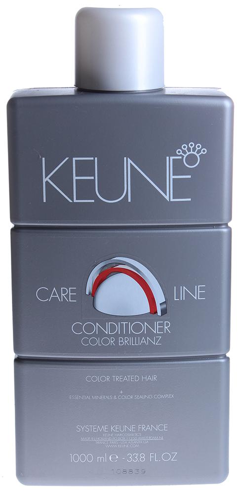 KEUNE Кондиционер Кэе Лайн Яркость цвета / CL COLOR CONDITIONER 1000млКондиционеры<br>Кондиционер для окрашенных волос &amp;laquo;Тройная Защита Цвета&amp;raquo;: предотвращает выцветание и обеспечивает долговременный блеск. Продлевает яркость окрашенных волос с трех сторон: кожа, внутренние и внешние слои волос. Активный состав: Соламер обеспечивает защиту от широкого спектра УФ-A и УФ-B излучения. Экстракт семян подсолнечника защищает окрашенные волосы от потери цвета. благодаря окислению свободных радикалов. LP300 &amp;ndash; стабилизатор цвета. Полимеры улучшают расчесываемость волос. Шелковые Протеины делают волосы гладкими, шелковистыми и блестящими. Применение: Нанесите кондиционер на вымытые волосы. Тщательно распределите продукцию по волосам пальцами и оставьте на 1-3 минуты. Добавьте небольшое количество воды и произведите эмульгацию кондиционера. Смойте и просушите волосы полотенцем.<br><br>Объем: 1000<br>Типы волос: Окрашенные