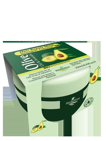 MADIS Маска для сухих волос восстанавливающая с маслом оливы и авокадо / HerbOlive 250 мл