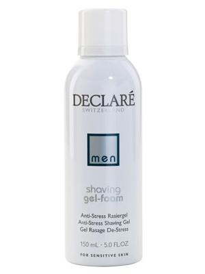 DECLARE Пенка-гель для бритья Антистресс / Shaving Gel-Foam Antistress 150млДля бритья<br>Пенка-гель для бритья Shaving Gel-Foam Antistress Declare обеспечивает прекрасное гладкое бритье. Растительные экстракты в составе пенки-геля для бритья Антиcтресс от Декларе успокаивают кожу в процессе бритья, защищают от раздражения и жжения.  Активные ингредиенты: Миндальное молочко, экстракт алоэ вера, пантенол, аллантоин, не содержит спирта.  Способ применения: Наносить пенку на влажную кожу. После бритья смыть остатки пенки водой.<br>