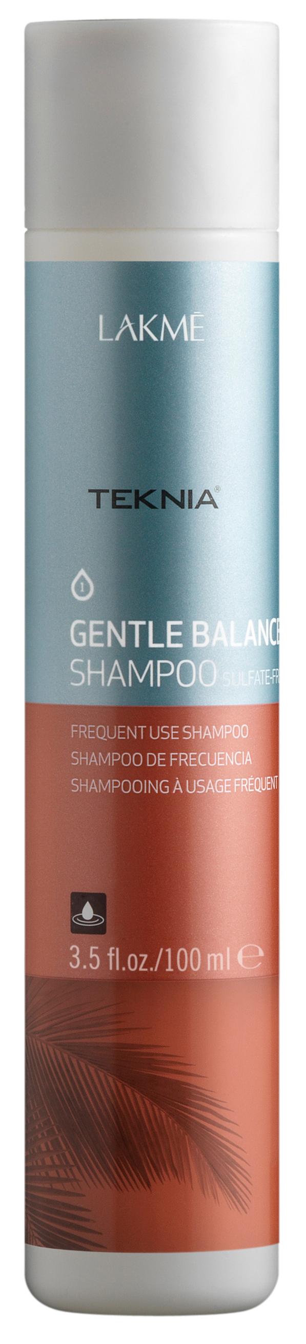 Купить LAKME Шампунь для частого применения для нормальных волос / GENTLE BALANCE SULFATE-FREE SHAMPOO 100 мл