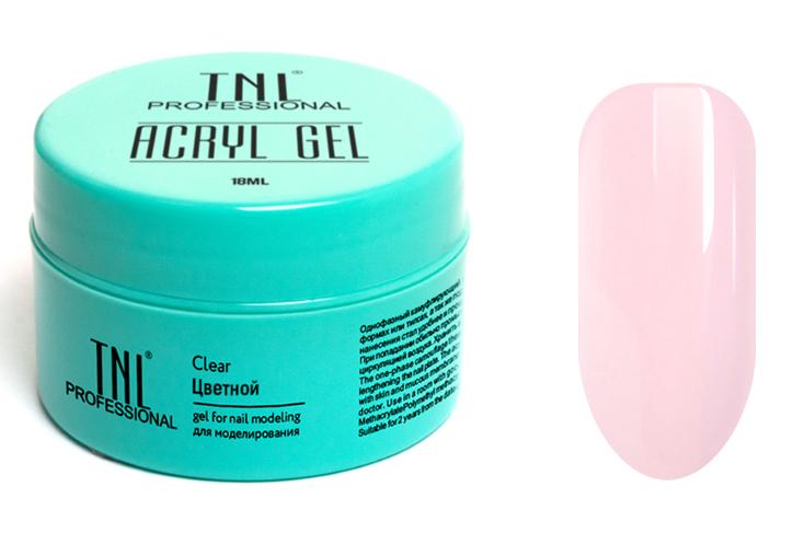 TNL PROFESSIONAL Акрил-гель камуфлирующий для моделирования ногтей, натуральный розовый / Acryl Gel 18 мл