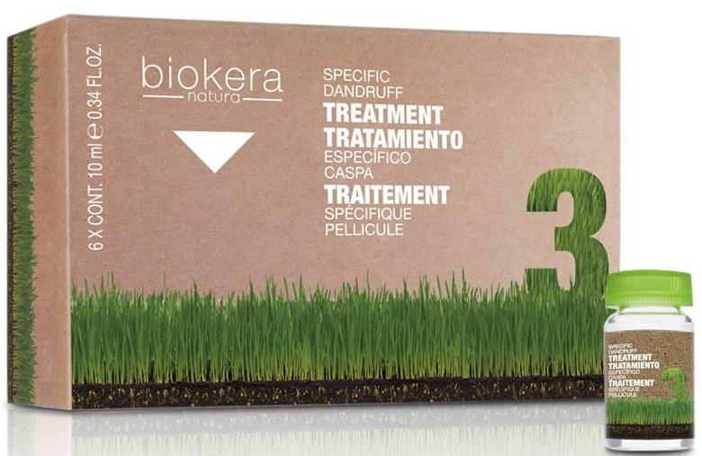 Salerm cosmetics лосьон против перхоти / biokera 6*10