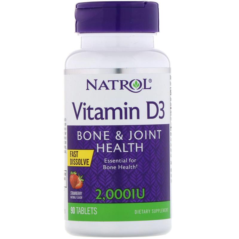 Купить NATROL Добавка биологически активная к пище Витамин D3 МЕ 2000 / Vitamin D3 2, 000 IU F/D 90 быстрорастворимых таблеток