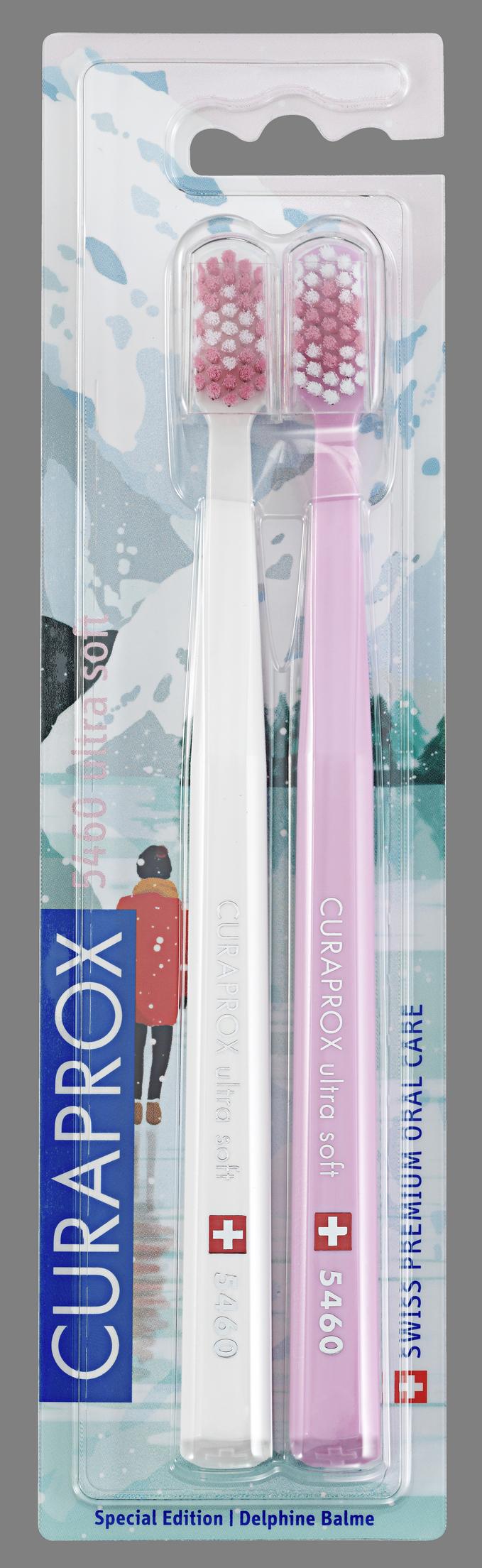 Купить CURAPROX Набор зубных щеток ultrasoft, d 0.10 мм, белая и розовая / Winter1 2 шт