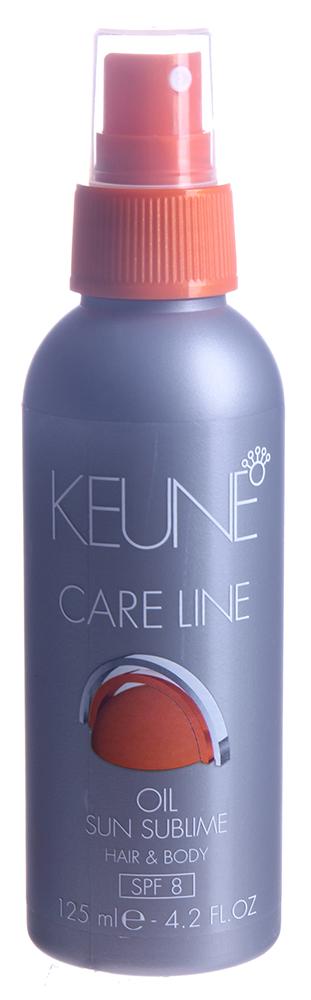 KEUNE Масло Кэе Лайн Экстра защита / CL SUN OIL 125млМасла<br>Защитное водостойкое масло для волос и тела с натуральным УФ-фильтром (фактор 8) на основе оризанола прекрасно защищает волосы и кожу от пересушивания во время принятия солнечных ванн и водных процедур. Натуральное сквалановое масло, полученное из оливок, оризанол, полученный из риса, витамин Е и провитамин В5 защищают волосы и кожу, а также придают объем и блеск. Подходит для придания волосам эффекта мокрых волос. Волосы становятся блестящими. Активный состав: Сквалан: создает защитную пленку вокруг волоса, которая защищает волосы от влаги и вредного воздействия солнца. Оризанол: действует как натуральный ультрафиолетовый фильтр. Витамин Е: поддерживает эффект воздействия оризанола, придает волосам объем и блеск. Биомины: оживляют волосы и кожу головы. Применение: Нанести Защитное масло на влажные или сухие волосы до или после загара, а также до или после после посещения бассейна.<br><br>Объем: 125<br>Вид средства для волос: Солнцезащитный<br>Типы волос: Сухие