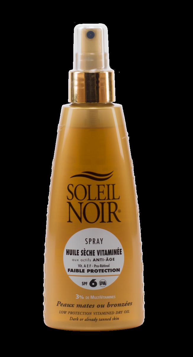 """SOLEIL NOIR Масло-спрей сухое антивозрастное витаминизированное """"Интенсивный загар"""" SPF6 / HULE SECHE VITAMINEE 150мл"""