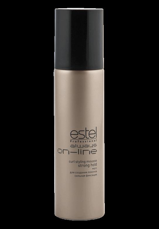 ESTEL PROFESSIONAL Мусс для создания локонов сильная фиксация / Always On-Line 250 мл estel always on line спрей вуаль для придания бриллиантового блеска волос 250 мл