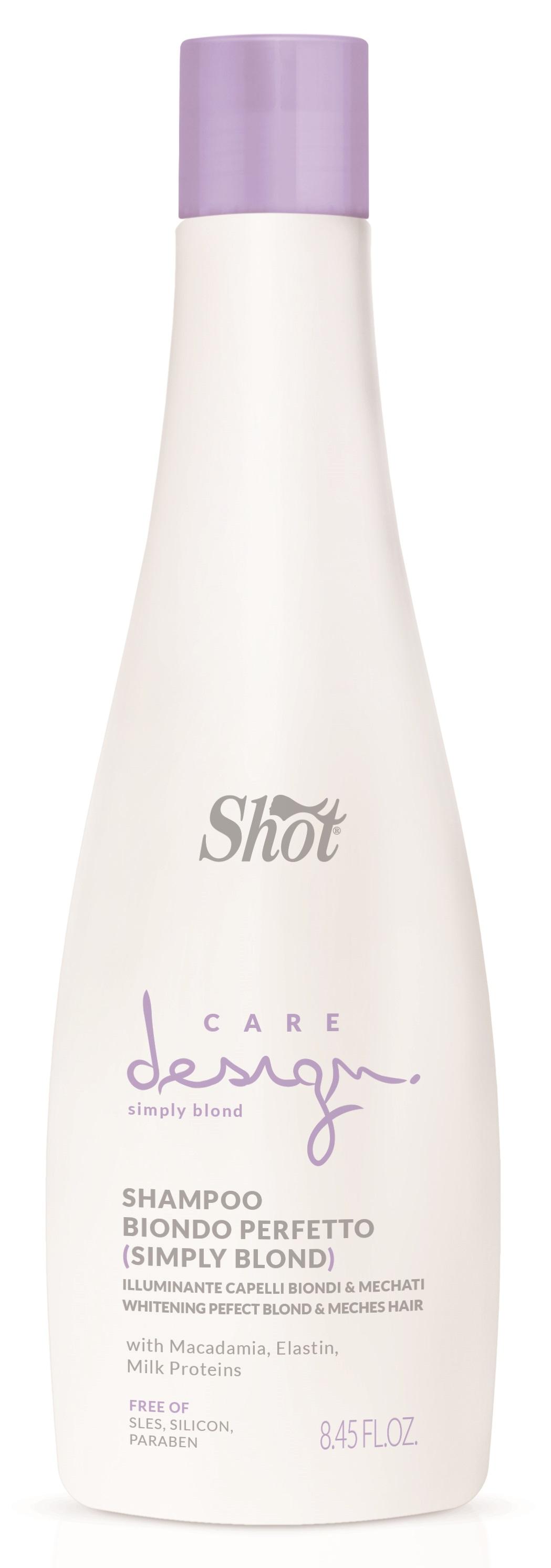 SHOT Шампунь Превосходный блонд / Care Design 250 мл