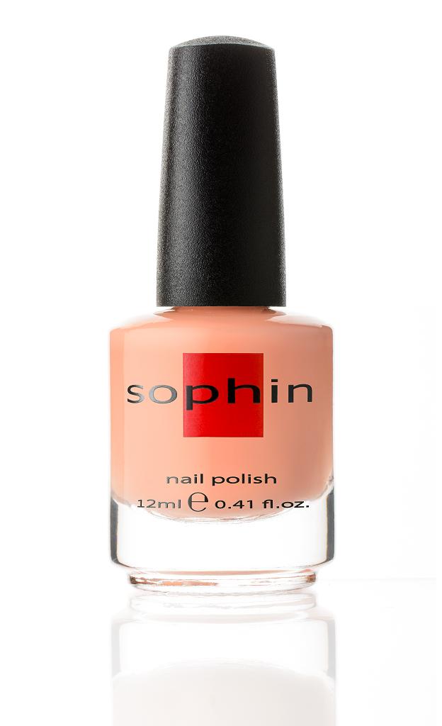 SOPHIN Лак для ногтей, персиково-бежевый пастельный 12мл