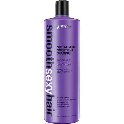 SEXY HAIR Шампунь разглаживающий без сульфатов / SMOOTH 1000млШампуни<br>Преобразует пушащиеся, волнистые и кудрявые волосы в гладкие, мягкие и блестящие. Не содержит сульфатов, клейковины, парабенов и солей. Обеспечивает гладкость, мягкость, блеск и баланс влаги. Сохраняет стойкость кератинового и химического выпрямления, работает на наращённых волосах. Кокосовое масло помогает бороться с пушащимися волосами, придавая им гладкость, предотвращает открытие кутикулы и излишние трение волос, отталкивает влагу. Активные ингредиенты: кокосовое масло.<br><br>Вид средства для волос: Разглаживающий<br>Типы волос: Для всех типов