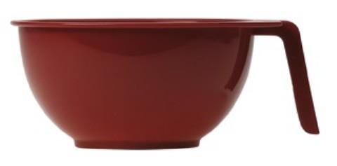 Чаша S (10) для краски с ручкой красная
