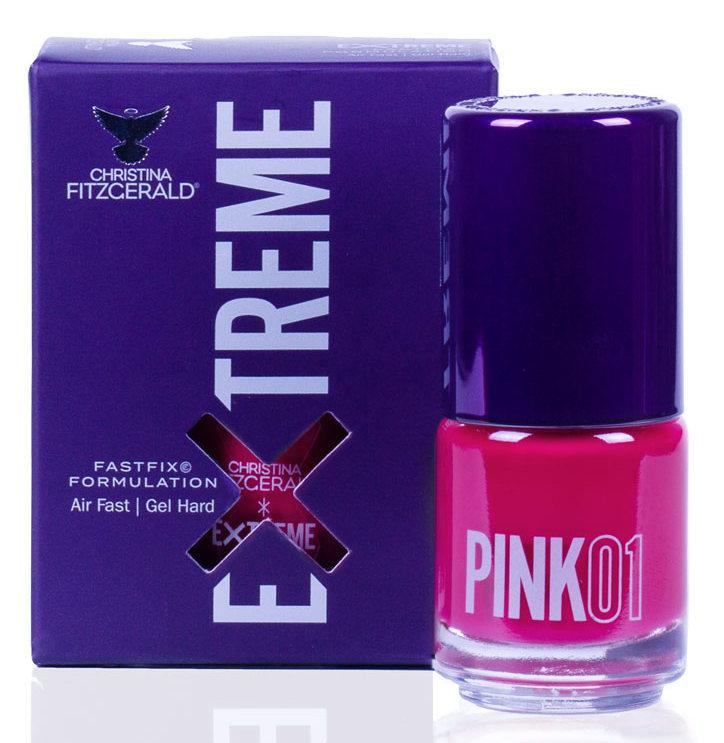 Купить CHRISTINA FITZGERALD Лак для ногтей 01 / PINK EXTREME 15 мл, Розовые