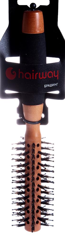 HAIRWAY Брашинг PROFI на дер. основе с натур. щетиной 40ммБрашинги<br>Брашинг на деревянной основе с натуральной щетиной, нейлоновыми штифтами и разделителем прядей. Продувная втулка. Полимерная ручка.<br>