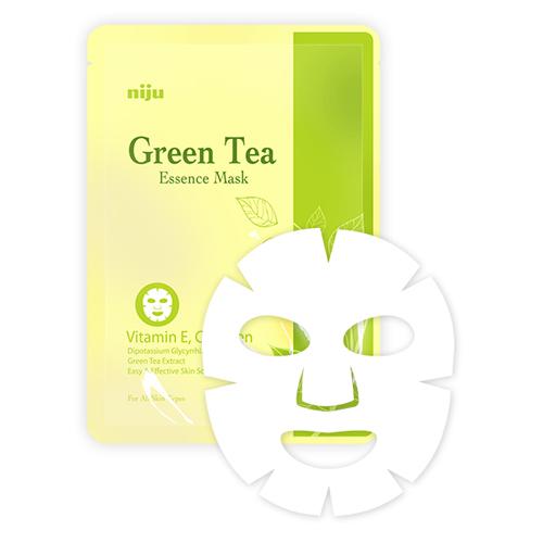 KONAD Маска с экстрактом зеленого чая / niju Green Tea Essence Mask 17млМаски<br>Маска для лица Konad с зеленым чаем успокаивает и увлажняет кожу лица, предотвращает старение кожи. Благодаря антиоксидантному действию зеленого чая маска выводит токсины и блокирует образование вредных веществ в клетках кожи лица. Мощное увлажняющее действие маски для лица Konad с зеленым чаем предотвращает шероховатость и делает кожу лица более упругой. Способ применения: щательно очистить и высушить лицо. Достаньте, разверните маску и нанесите ее на ваше лицо. Носить маску 15-20 минут и снимите медленно за край.<br><br>Объем: 17 мл