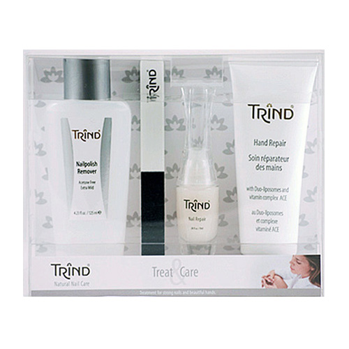 TRIND Набор для ногтей (Nail Repair + Nail Magic + Hand Repair + P.Remover) / Treat & Care Set