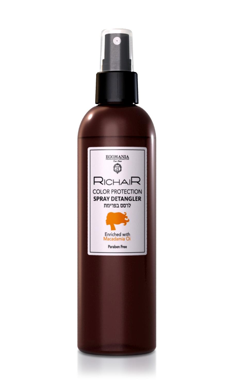EGOMANIA Спрей-кондиционер для облегчения расчесыванияя защита цвета с маслом макадамии / RICHAIR 250мл