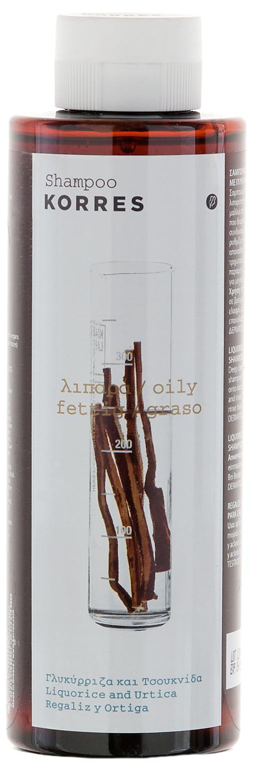KORRES Шампунь для жирных волос, лакрица и крапива 250 мл