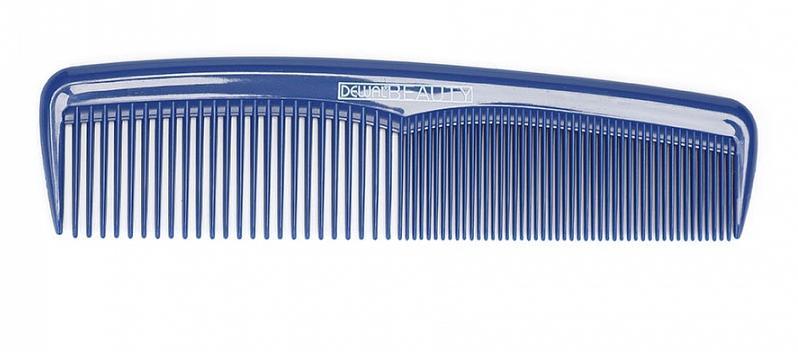 DEWAL BEAUTY Расческа карманная, синяя 13,5 см