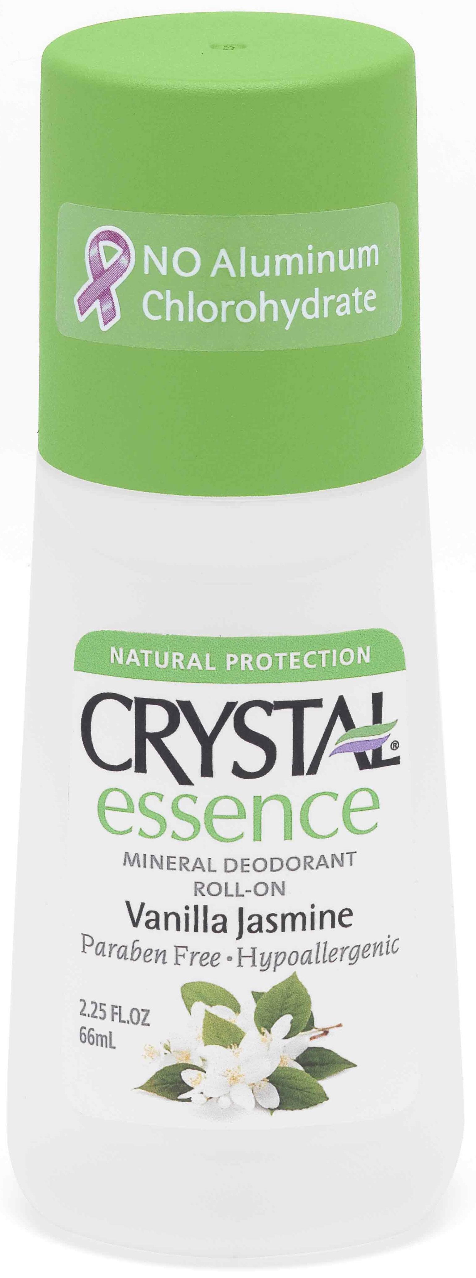 CRYSTAL Дезoдорант роликовый Ваниль и Жасмин / Crystal body ROLL-on Vanilla-Jasmin 66млДезодоранты<br>НОВИНКА! Антибактериальный дезодорант Кристалл Эссенсе для тела с роликовым аппликатором. Создан на основе натуральных минеральных солей с экстрактами Ванили. Предназначен для полной защиты от бактерий и неприятного запаха в течение дня. Обладает мощным антибактериальным эффектом в сочетании с легкими и нежными ароматами Ванили. Содержит экстракт Ванили, которые оказывают противо воспалительное и расслабляющее действие на Вашу кожу. Улучшенная конструкция роликового аппликатора позволяет нежно и экономно нанести дезодорант на Вашу кожу. Не содержит консервантов, не вызывает аллергии. Не прилипает и не оставляет белых следов или разводов на одежде. Способ применения: наносить легкими движениями на чистую кожу в утреннее время, после душа или ванны. Активные ингредиенты: натуральные минеральные соли (Potassium Alum), очищенная вода, квасцы калия, эфирные масла, целлюлоза, экстракт Ванили.<br>