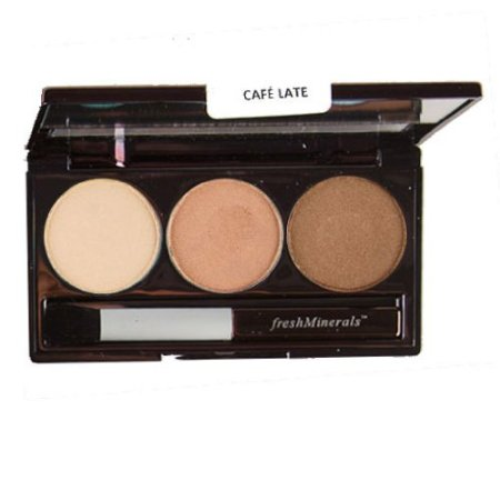 FRESH MINERALS Тени трехцветные для век / Cafe Late Mineral Triple Eyeshadow 4,25 г
