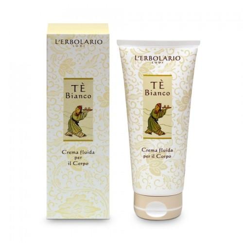 LERBOLARIO Крем для тела Белый чай 200 млКремы<br>Этот жидкий и легкий крем для тела богат активными растительными компонентами, которые защитят вашу кожу, сделают ее мягкой и бархатистой, придадут тонкий аромат. Особенно рекомендуется для сухой и обезвоженной кожи, предохраняет её от солнечных лучей. Благодаря способности стимулировать фибробласты предохраняет от появления морщин и увядания кожи. Активные ингредиенты: масло отрубей риса, оливковое масло, хлопковое масло, эфиры фитостеролов и глицеринов рапсового масла, неомыляемая фракция масла авокадо, экстракт белого чая, гидроглицериновый экстракт пиона, водный дистиллят пиона, водный дистиллят хлопка. Способ применения: нанесите крем на тело после принятия ванны или душа, распределите легкими массирующими движениями. Крем легко впитывается, не оставляет жирных следов.<br>