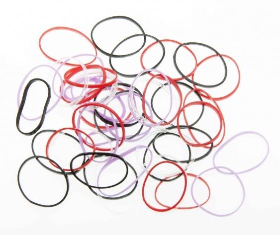 DEWAL BEAUTY Резинки для волос mini силикон, цветные 50 шт
