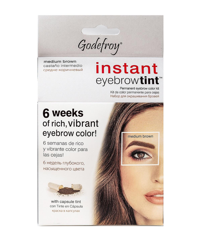 GODEFROY Краска-хна в капсулах для бровей с эффектом татуажа, коричневый / Eyebrow Tint Medium Brown 15 шт