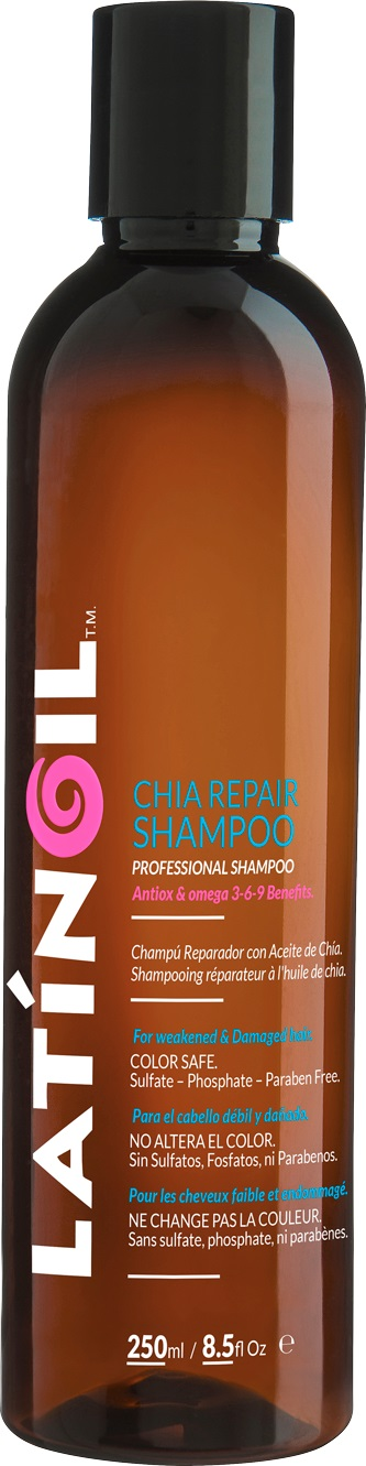 LATINOIL Шампунь восстанавливающий с маслом чиа / CHIA REPAIR SHAMPOO 250 мл -  Шампуни