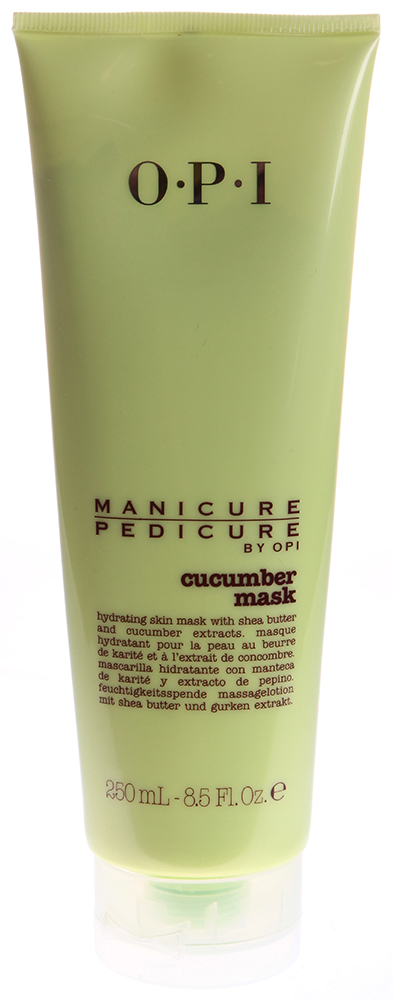 OPI Маска для рук и ног Огурец / Manicure-Pedicure Cucumber Mask 250млМаски<br>Смягчающая и ультраувлажняющая маска с экстрактом огурца. Способ применения: Нанести на подсушенные полотенцем руки или ступни, оставить на 5 минут. Снять с помощью теплого влажного полотенца. Плотно закрутить крышку тюбика после использования для предотвращения высыхания продукта.<br><br>Объем: 250