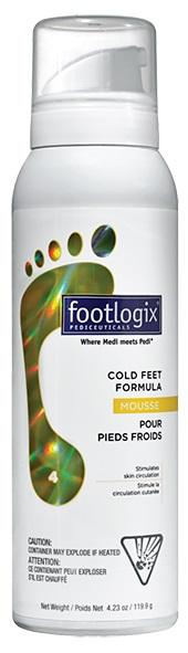FOOTLOGIX Согревающий мусс для ног / Cold feet formula 200грМуссы<br>Согревающий мусс для ног улучшает кровообращение, снижают ощущение онемевших и замерзших ног. Активные компоненты удерживают необходимую коже влагу, что обеспечивает увлажненность. Мусс имеет легкую, воздушную текстуру, которая отлично впитывается и не оставляет следов на одежде. Преимущества средств Footlogix: Не содержат синтетических масел, что позволяет муссам проникать в верхние слои кожи мгновенно, не оставляя жирных следов.&amp;nbsp; Не содержат спирта или искусственных ароматизаторов, что делает использование безопасным для всех категорий, включая людей, больных сахарным диабетом.&amp;nbsp; Не закупоривают поры.&amp;nbsp; Не жирные: моментально впитываются, носки и обувь можно надевать сразу после нанесения. Просто нанесите и идите!&amp;nbsp; Гигиеничны: аппликаторы имеют герметичную систему, что препятствует попаданию воздуха в упаковку и рост бактерий внутри.&amp;nbsp; Дают восстанавливающий эффект: увлажняют и защищают поврежденную кожу от сухости и инфекций.&amp;nbsp; Просты в применении, быстро впитываются.&amp;nbsp; Высоко эффективны: дают моментальный результат и продолжение улучшения в течение нескольких дней.&amp;nbsp; Способ применения: массажными движениями наносить мусс размером с грецкий орех на чистую сухую кожу ног 1-2 раза в день за полчаса до сна или по мере необходимости. Избегать контакта с лицом и глазами.<br><br>Объем: 200 гр