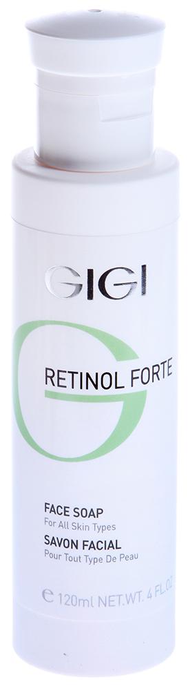 GIGI Мыло жидкое для лица / Face Soap RETINOL FORTE 120млМыла<br>Бесщелочное мыло для всех типов кожи хорошо очищает кожу, не нарушая кислотно-щелочного баланса. Действие: Оказывает противовоспалительное и смягчающее действие, усиливает проницаемость кожи для активных ингредиентов из ретиноловых кремов. Активные ингредиенты: гликолевая кислота, ретинилпальмитат, алантоин, лауретсульфат натрия. Способ применения: Смешать мыло с небольшим количеством воды и нанести на кожу массажными движениями в течение 3-4 минут. Смыть теплой водой.<br><br>Объем: 120