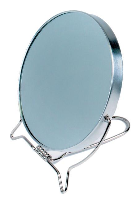 SIBEL Зеркало настольное круглое, металическая оправа