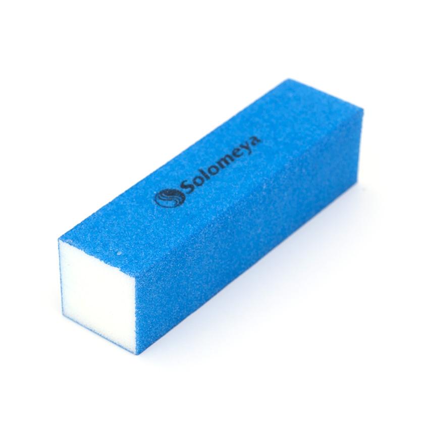 SOLOMEYA Блок-шлифовщик для ногтей синий / Blue Sanding BlockПилки для ногтей<br>Блок-шлифовщик Solomeya предназначен для обработки искусственных ногтей, а также ногтей с тканевыми покрытиями. Прекрасно сглаживает все неровности, не повреждая кутикулу. Шлифовщик изготовлен из полиэтиленовой пены высокого качества, благодаря чему сохраняет свои свойства в течение длительного времени. Рекомендуется для профессионального и домашнего использования.<br>