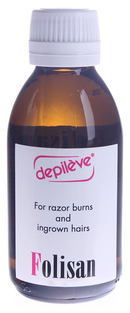 DEPILEVE Лосьон против вросших волос 150млЛосьоны<br>Лосьон против вросших волос - эффективное средство, предназначенное для борьбы с распостраненной проблемой врастания волос после процедуры эпиляции или бритья. Благодаря содержанию в составе салициловой кислоты оказывает отшелушивающее и противовоспалительное действие, уменьшает гиперкератоз волосяных протоков, который возникает после депиляции и приводит к врастанию волос. Обладает успокаивающим действием,снимая раздражение после эпиляции и увлажняет кожу. Лосьон может использоваться на любом участке тела, даже на таких чувствительных, как область бикини, подмышек и подбородка. Рекомендуется использовать лосьон как после депиляции, так и после бритья.  Активные ингредиенты: Салициловая кислота, глицерин, рн 4.  Способ применения: Наносить с помощью ватного диска на кожу сразу после депиляции или бритья, затем ежедневно на этот же участок до появления новых волос на поверхности кожи. Противопоказанием к применению является индивидуальная непереносимость салициловой кислоты.<br><br>Объем: 150<br>Вид средства для тела: Отшелушивающий