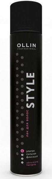 OLLIN PROFESSIONAL Лак для волос ультрасильной фиксации, без отдушки / STYLE 400мл