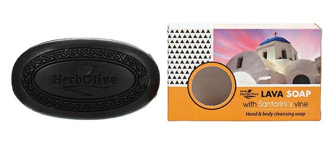 MADIS Мыло оливковое с вулканическим песком Санторини и экстрактом виноградной лозы / HerbOlive 85 г