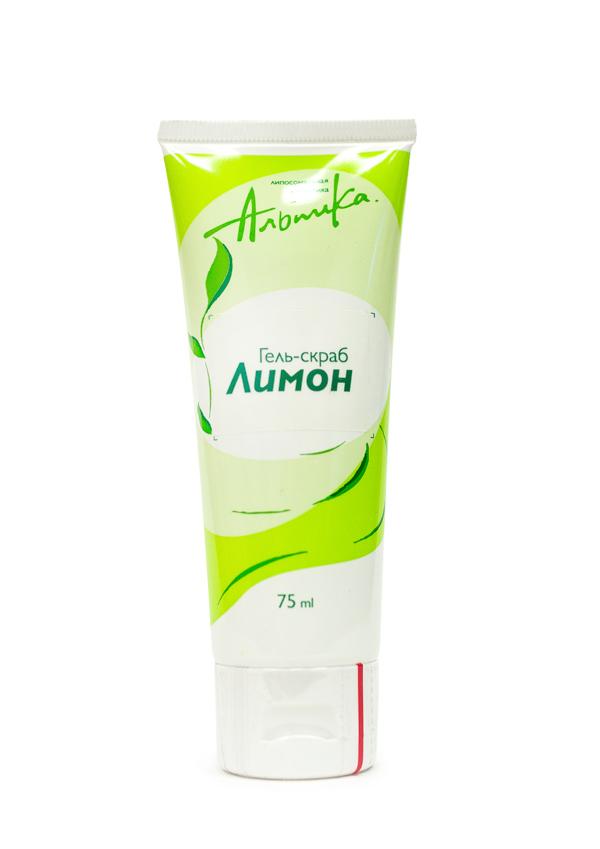 АЛЬПИКА Гель-скраб для жирной кожи Лимон 75мл
