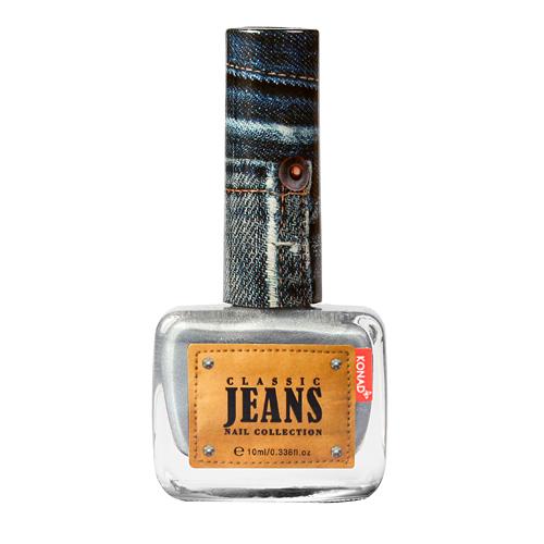 KONAD Лак для ногтей текстурный Nail 05 - Smoke Blue Jeans / Classic Jeans 10млЛаки<br>Коллекция джинсовых лаков для ногтей Konad Jeans - это роскошные, настоящие джинсовые оттенки в красивом флаконе. Джинсовые лаки Konad стойкие и легкие в нанесении, уже в один слой вы можете получить плотное покрытие, имеют 3д эффект фактуры джинс! Эти лаки не требуют нанесения топа, а песочная текстура очень приятна на ощупь и не цепляет одежду. Эта необычная шелковистая поверхность с мелким глиттером - настоящие джинсы на ногтях! Способ применения: используется как регулярный лак, не для стемпинга! Для идеального эффекта необходимо нанести два слоя на базовое покрытие.<br><br>Цвет: Синие<br>Объем: 10 мл