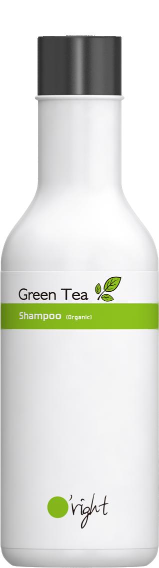 O'RIGHT Шампунь для нормальных волос Зеленый чай / Green tea shampoo 100 мл -  Шампуни