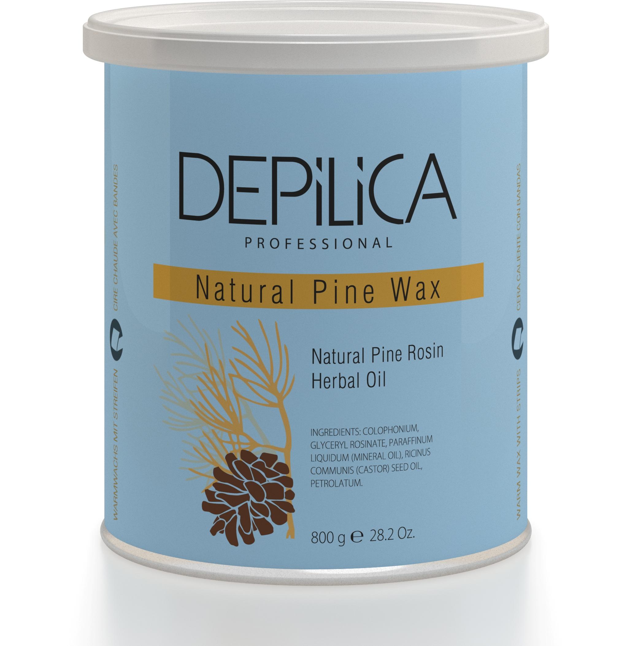 DEPILICA PROFESSIONAL Воск теплый Натуральный Сосновый / Natural Pine Warm Wax 800грВоски<br>Содержит сосновую смолу и растительные масла. Обеспечивает эффективное удаление волос, оказывает успокаивающее действие, защищает кожу. Имеет прозрачную текстуру, удобен в использовании. Рекомендуется для начинающих мастеров. Универсальные картриджи воска подходят для всех стандартных нагревателей. Они оснащены роликом-аппликатором что очень удобно для быстрого и чистого нанесения.<br>