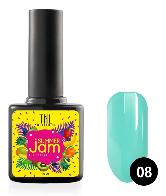 Купить TNL PROFESSIONAL 08 гель-лак для ногтей, неоновый светло-бирюзовый / Summer Jam 10 мл, Зеленые