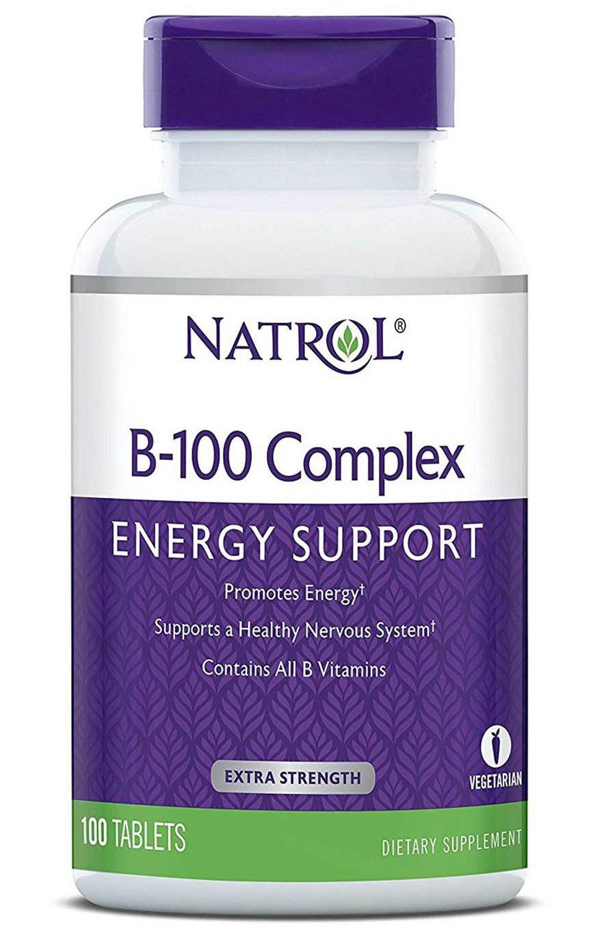 NATROL Добавка биологически активная к пище В-100 Комплекс / B-100 Complex 100 таблеток