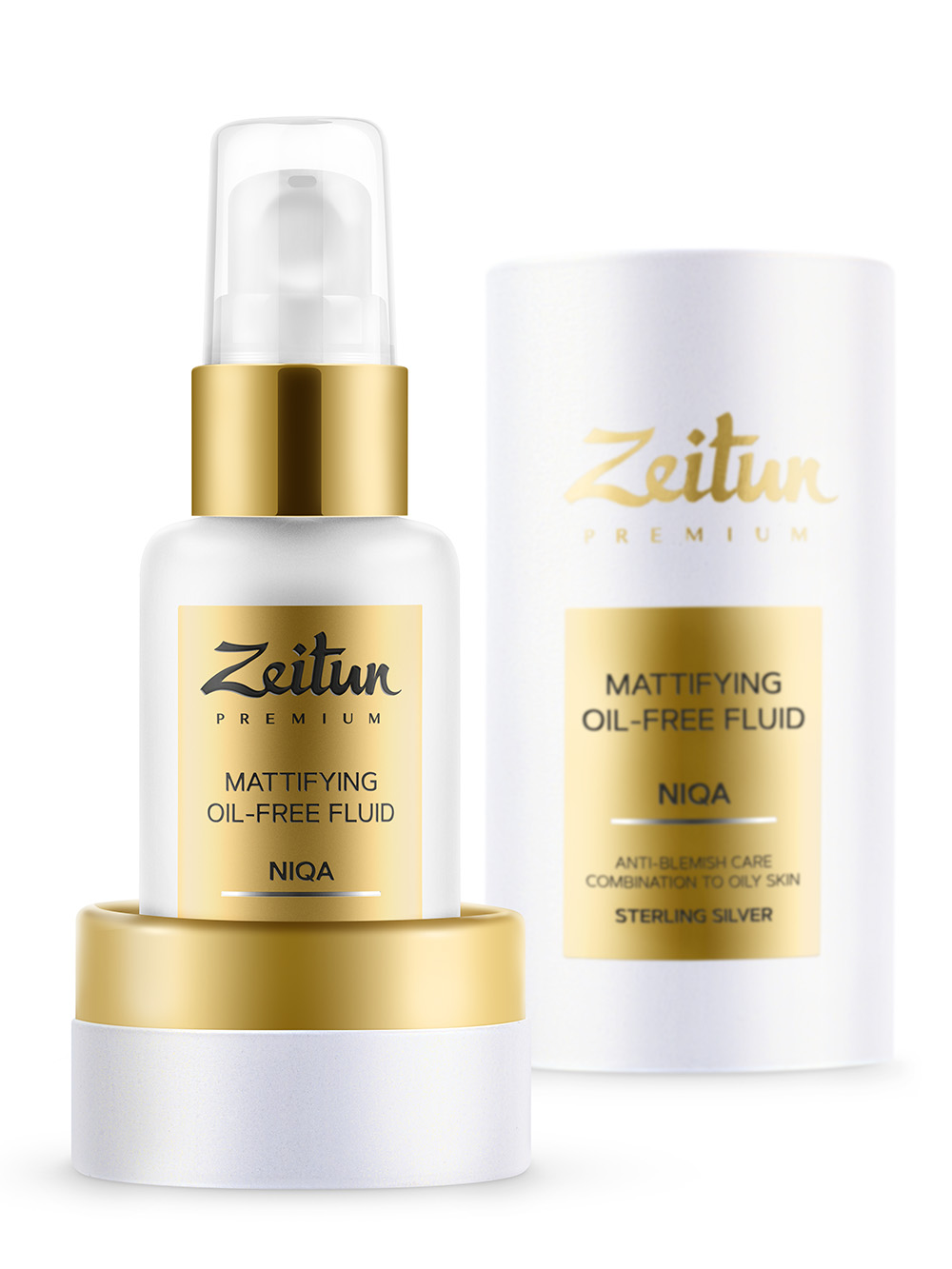 Купить ZEITUN Флюид дневной матирующий для комбинированной и жирной кожи / NIQA 50 мл