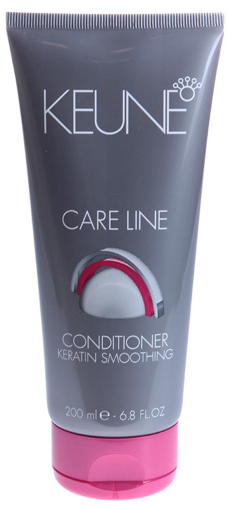 KEUNE Кондиционер Кэе Лайн Кератиновый комплекс / CL KERATIN SMOOTING CONDITIONER 200млКондиционеры<br>Содержащийся в составе кондиционера кератин глубоко поникает в ствол волоса, укрепляет его структуру и сглаживает поверхность волоса. Масло Ши и провитамин В5 эффективно питают волосы и восстанавливают естественный баланс влажности волос и кожи головы. Благодаря специальному Quat Complex, Ваши волосы надежно защищены от термических повреждений (слишком горячий фен или парикмахерский утюжок) и от механических повреждений (слишком интенсивное расчесывание). Quat Complex также очень активно оздоравливает волосы, делает их крепкими, эластичными и блестящими. Активные ингредиенты: кератин, масло ши, провитамин В5, Quat Complex. Способ применения: нанести кондиционер на влажные чистые волосы и равномерно распределить его по всей длине. Далее набрать в горсть теплой воды и хорошенько вспенить средство на волосах. Тщательно смыть и высушить волосы полотенцем.<br><br>Объем: 200<br>Типы волос: Поврежденные<br>Назначение: Секущиеся кончики