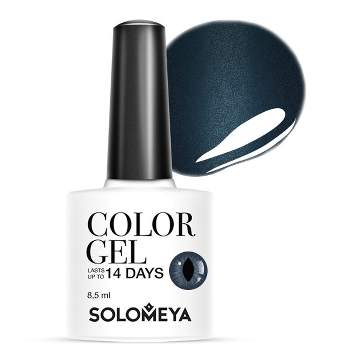 SOLOMEYA Гель-лак для ногтей SCE027 Кошачий глаз, сумеречный синий / Cat Eye Gel Dusky Blue 8,5 мл цена