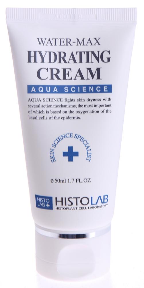 HISTOLAB Крем увлажняющий / Water-max Hydrating Cream AQUA SCIENCE 50млКремы<br>Смягчает, увлажняет, осветляет, повышает эластичность кожи, помогает удерживать влагу. Формирует на коже защитный слой, предохраняющий от воздействия УФ-лучей. Подходит для всех типов кожи, особенно для сухой. Активные ингредиенты: культуры каллусных клеток (томат, рис), экстракты портулака огородного, прострела корейского, уснеи, плодов японского перца, бета-глюкан, гиалуронат натрия, бетаин, пчелиный воск, лецитин. Способ применения: нанесите необходимое количество крема на предварительно очищенную кожу лица и равномерно распределите до полного впитывания. Домашний уход для утреннего и вечернего применения.<br><br>Класс косметики: Домашняя