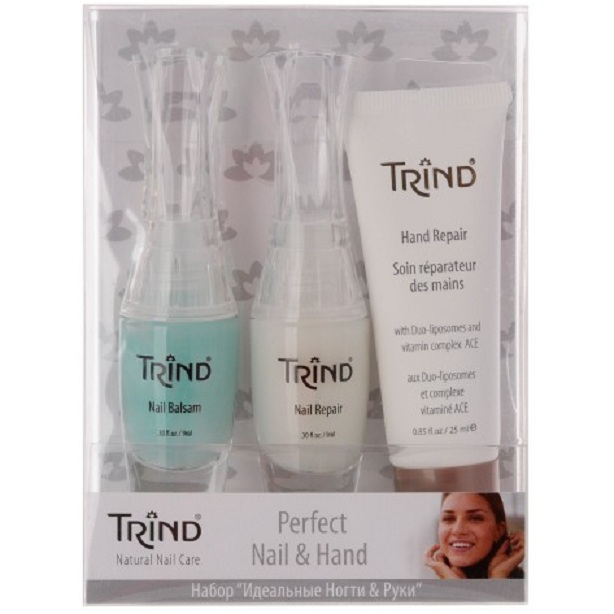 TRIND Набор для ногтей (Nail Balsam + Nail Repair + Hand Repair Mini) / Perfect Nail  Hand Set