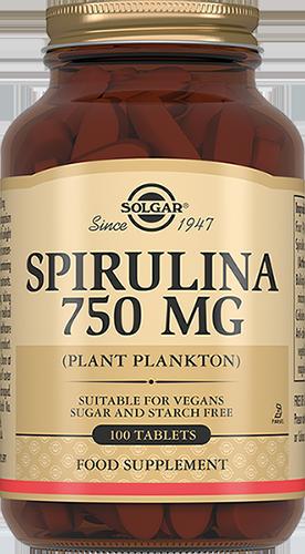 SOLGAR Спирулина, таблетки 750 мг № 100